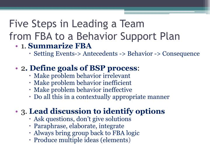 Five Steps in Leading a Team