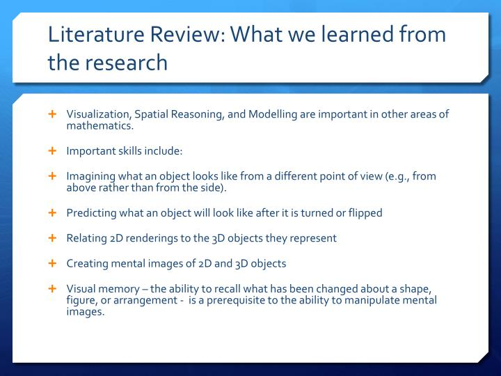 Literature Review: What we learned from the research