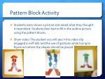 pattern block activity