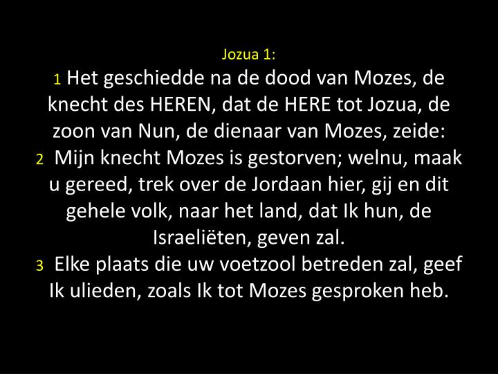 Jozua 1: