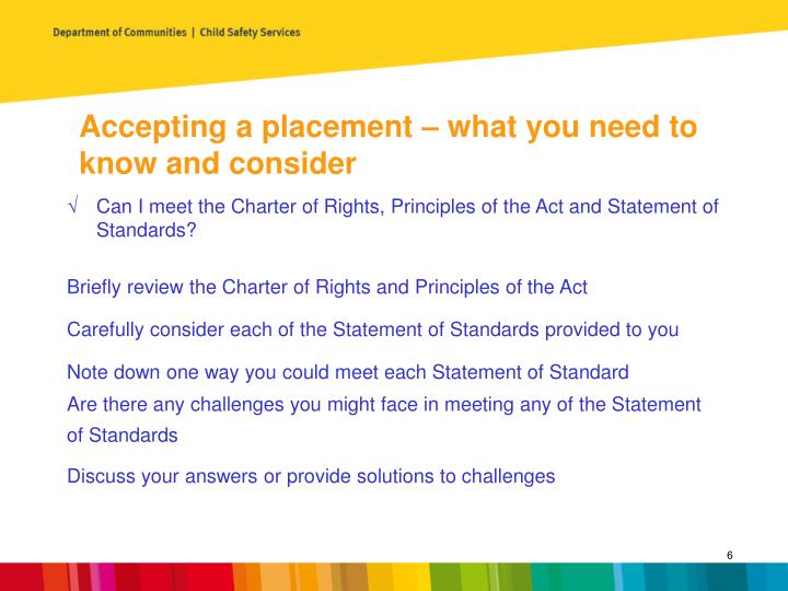 Accepting a placement – what you need to know and consider