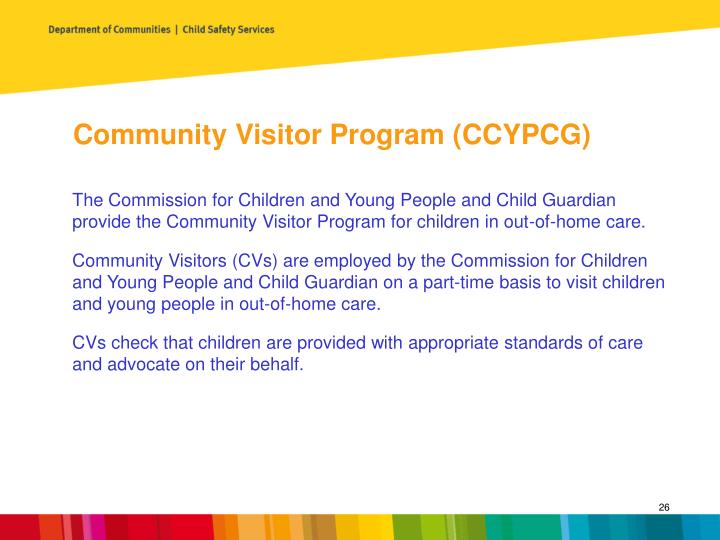 Community Visitor Program (CCYPCG)