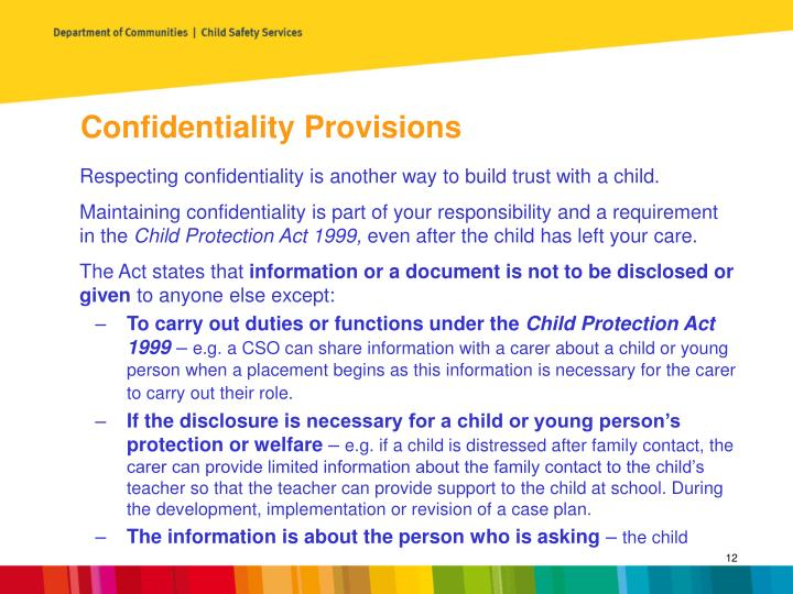 Confidentiality Provisions