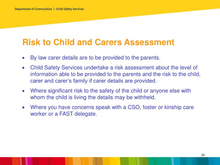 Risk to Child and Carers Assessment
