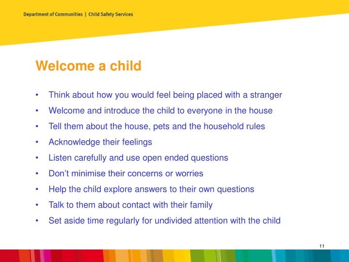Welcome a child