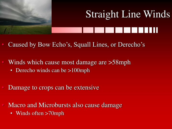 Straight Line Winds