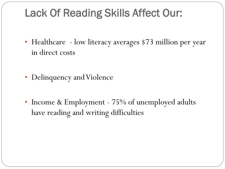 Lack Of Reading Skills Affect Our: