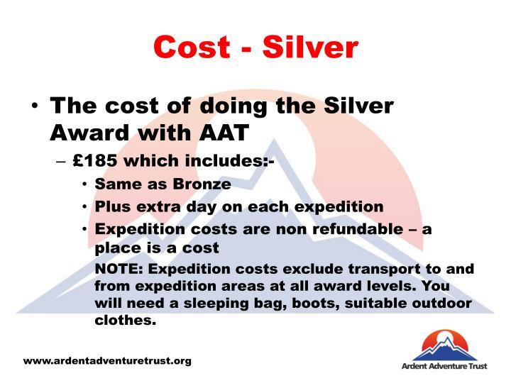 Cost - Silver