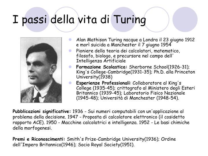 I passi della vita di Turing