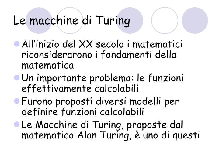 Le macchine di Turing