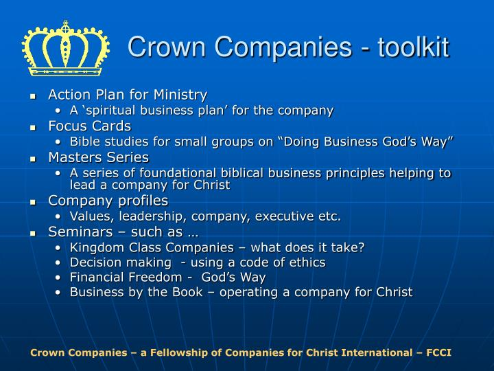 Crown Companies - toolkit