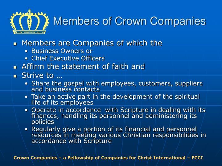 Members of Crown Companies