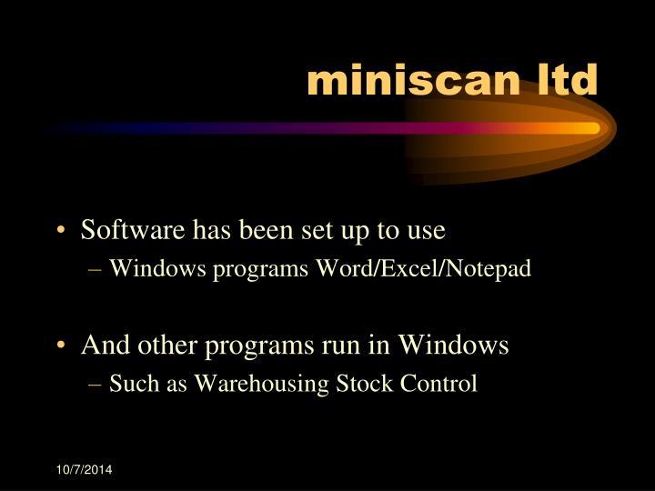 miniscan ltd