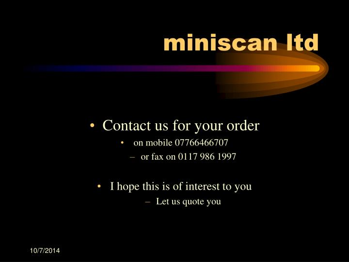 Contact us for your order