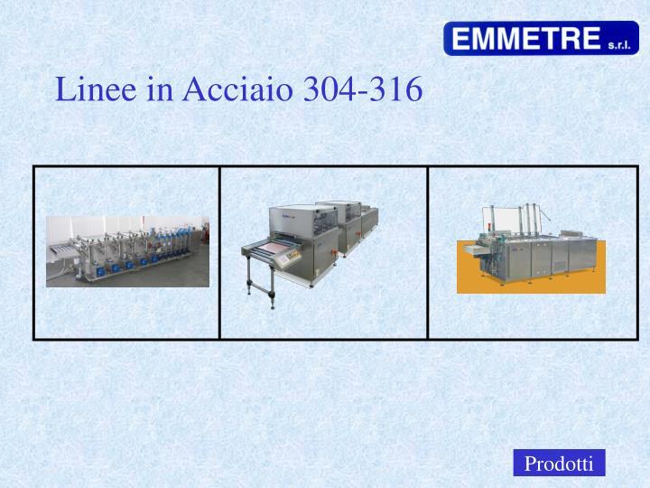 Linee in Acciaio 304-316
