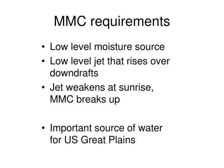 MMC requirements