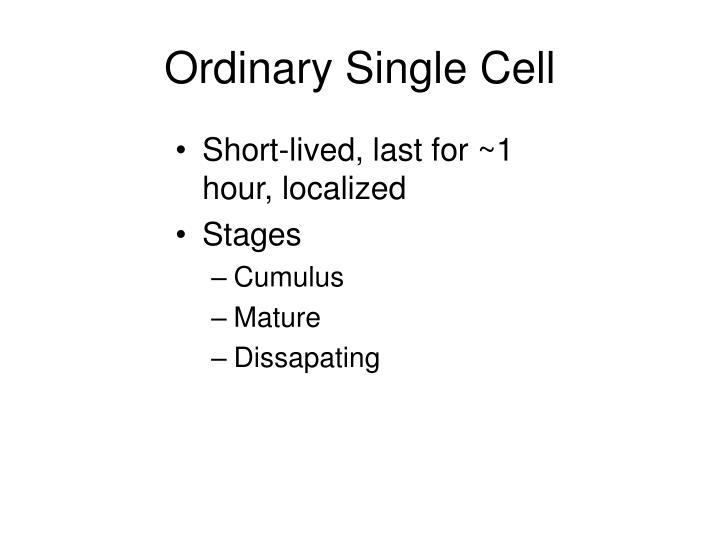 Ordinary Single Cell