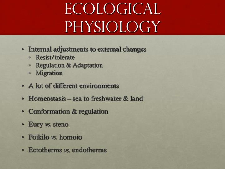 Ecological Physiology