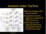 absolutely stable top rock