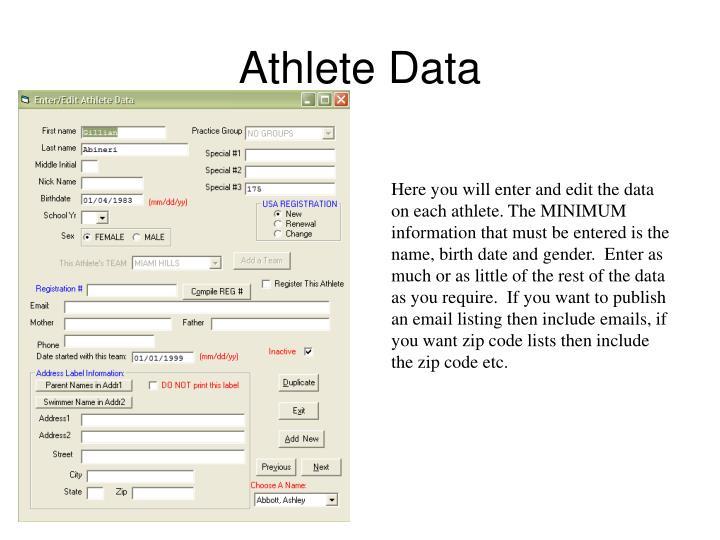 Athlete Data