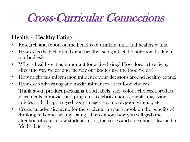Cross-Curricular Connections