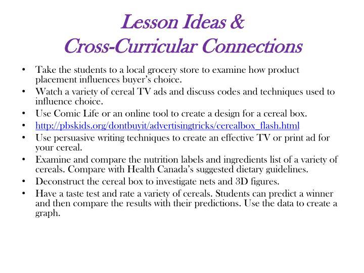 Lesson Ideas &