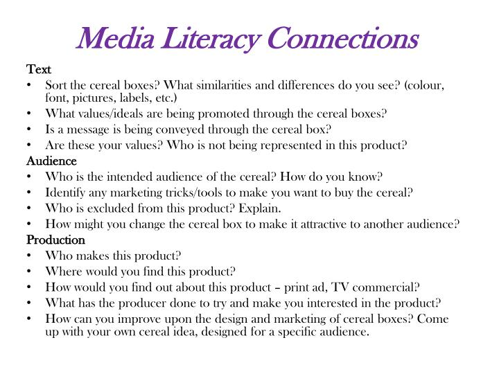 Media Literacy Connections