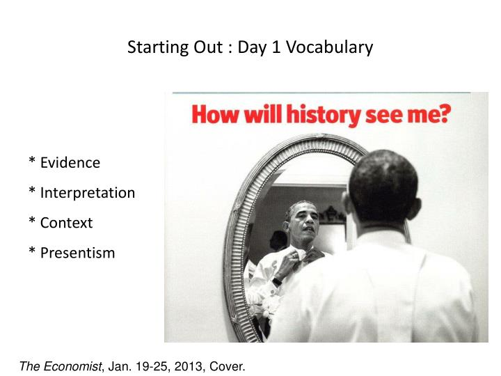 Starting Out : Day 1 Vocabulary