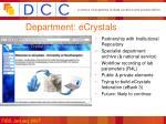 department ecrystals