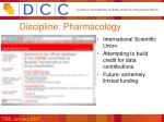 discipline pharmacology