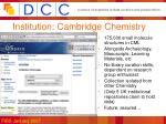 institution cambridge chemistry