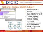 national bodies british library