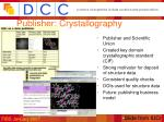 publisher crystallography