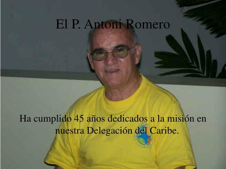 El P. Antoni Romero