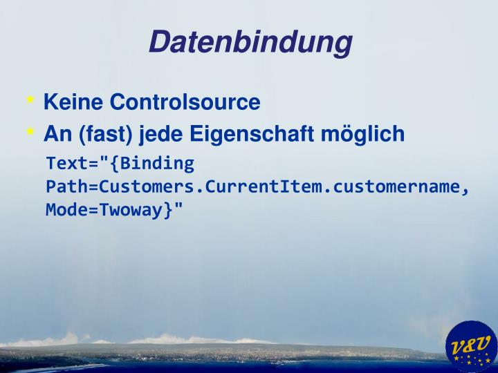 Datenbindung