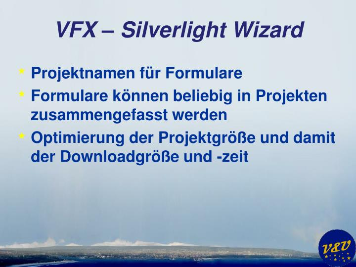 VFX – Silverlight Wizard