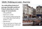 16h30 walking on water boat trip