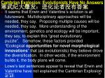 cambrian explosion evolutionists have no answers7