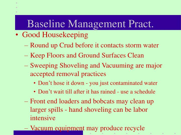 Baseline Management Pract.