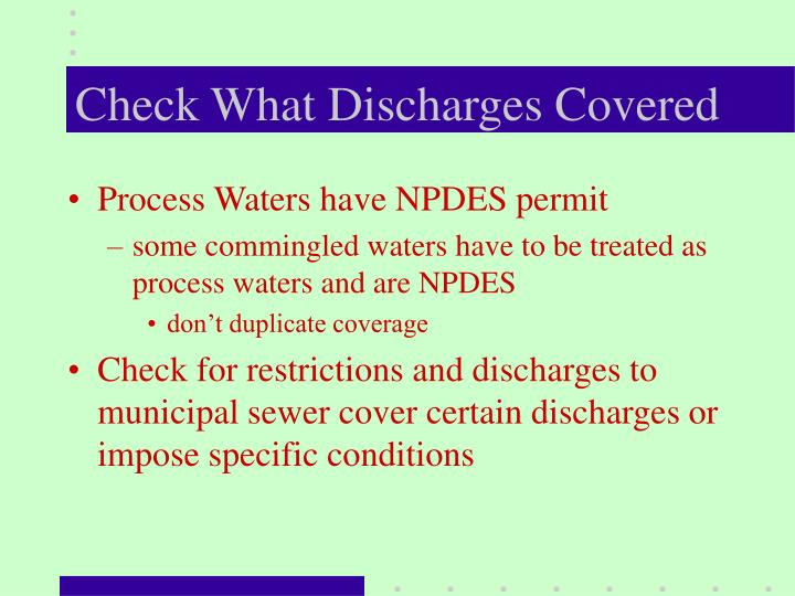 Check What Discharges Covered