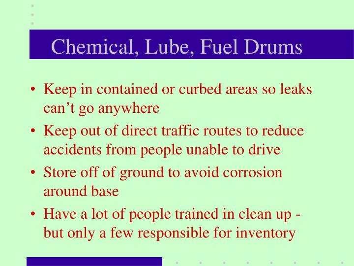 Chemical, Lube, Fuel Drums
