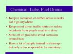 chemical lube fuel drums