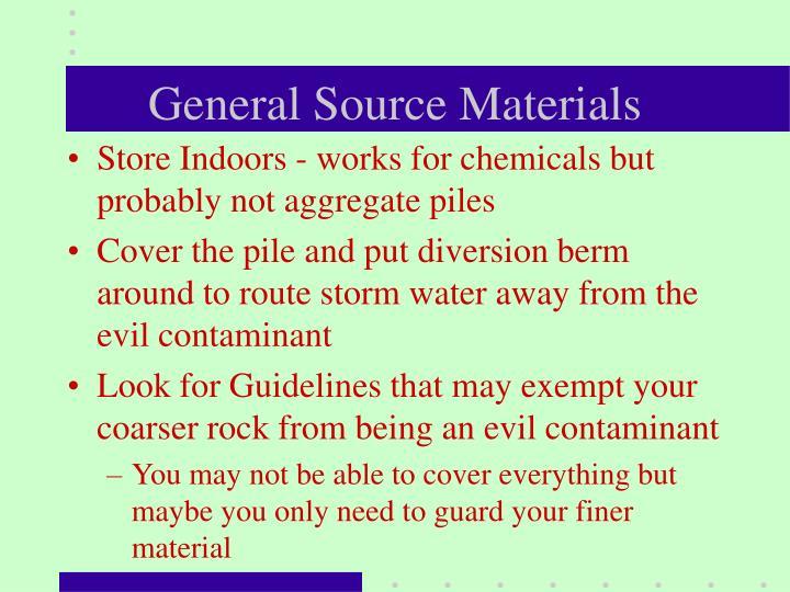General Source Materials