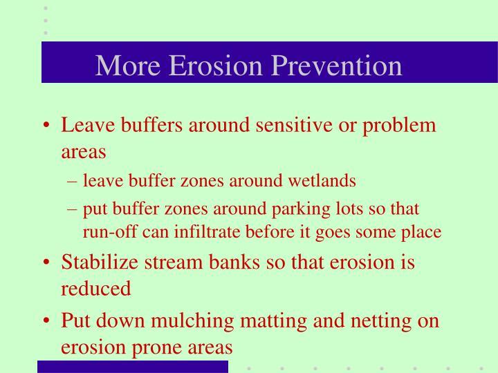 More Erosion Prevention
