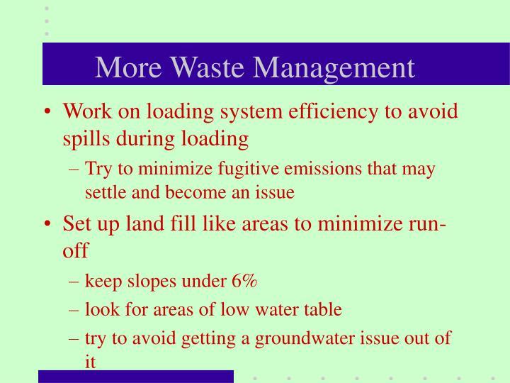 More Waste Management