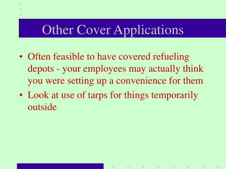 Other Cover Applications