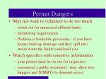 permit dangers