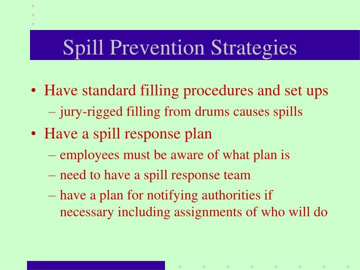Spill Prevention Strategies