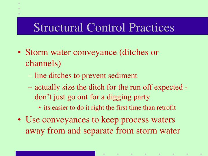 Structural Control Practices