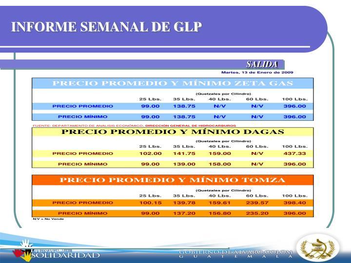 INFORME SEMANAL DE GLP